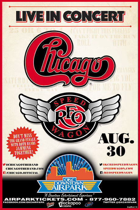 Chicago and REO Speedwagon at OKC Downtown Airpark