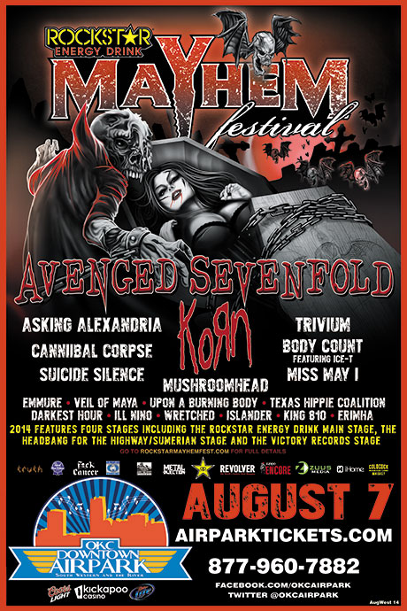 Mayhem Festival at OKC Downtown Airpark