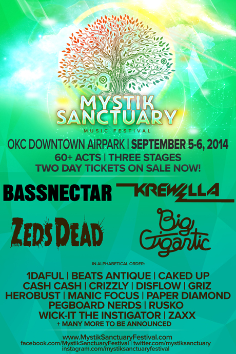 MYSTIC SANCTUARY FESTIVAL - BASSNECTAR, KREWELLA, BIG GIGANTIC AND MORE!